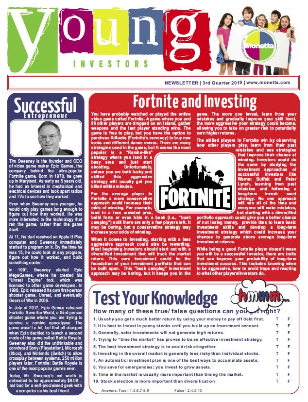 Kids Quarterly Newsletters - Q3 2019